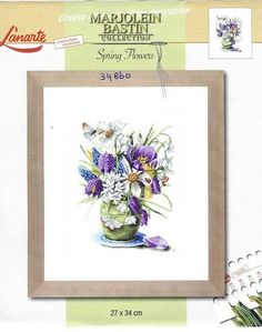 Gallery.ru / Фото #1 - Lan_34860 - Satiina Marjolein Bastin, Cross Stitch Flowers, Bastille, Flower Vases, Spring Flowers, Cross Stitch Embroidery, Needlework, Decorative Boxes, Pattern