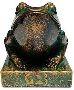 Egyptian Frog Goddess Heket Statue Kek Desk Sculpture Art Home Decor New Design