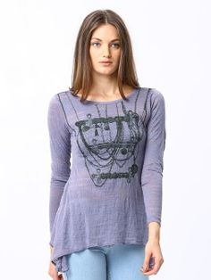 Espresso Casual Full Sleeve Printed Women's Top