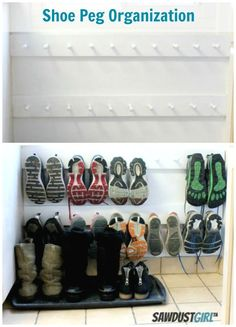 Drop a row of hooks down to the floor to finally clear your entryway of everyone's dirty sneakers. See more at Sawdust Girl » More from Good Housekeeping: Get Organized by the End of the Month The Secret to Loading Your Dishwasher 10 Smart Resolutions Professional Organizers Make   - CountryLiving.com