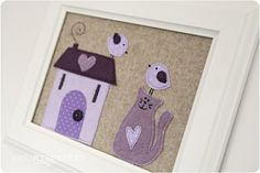 https://flic.kr/p/bzztDD | lavender house | Handmade by me Design by me  blogged here countrykittyland.blogspot.com/2012/01/lavender-cottage.html