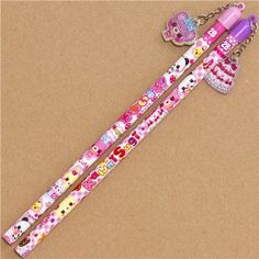 2 cute pencils with bears rabbit sweets from Japan