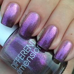 Different Dimension Little Miss Stubborn Different Dimensions- Little Miss Stubborn-one full mani $4 Thermal polish but color change properties are subtle now. The color is a wonderful irridescent purple howeve