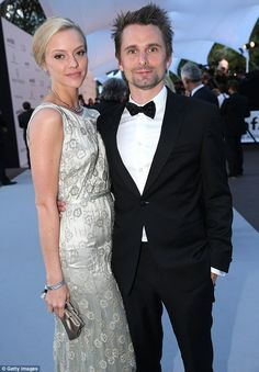 Moving on: The actress's ex-fiance Matt Bellamy made his red carpet debut with new girlfriend Elle Evans in Cannes last week