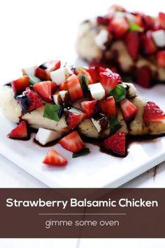 Strawberry Balsamic Chicken Recipe | gimmesomeoven.com