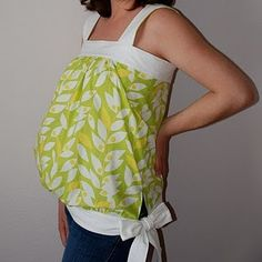 Maternity tops!!  -An interesting idea and would be easy to sew.