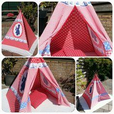 Vrolijke wigwam / tipi. Hollands Glorie!  Te koop via Marktplaats.  Play tent / teepee / tipi for kids.