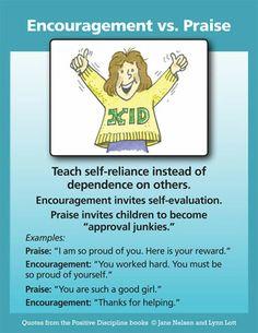 Positive Discipline: Encouragement vs Praise