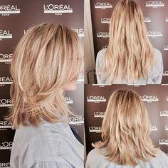 Diesen neuen Stufenschnitt wollen jetzt alle haben! Bad Hair, Hair Day, Medium Length Hair Cuts With Layers, Medium Hair Cuts, Medium Hair Styles, Curly Hair Styles, Simple Hairstyles, Fast Hairstyles, Layered Haircuts