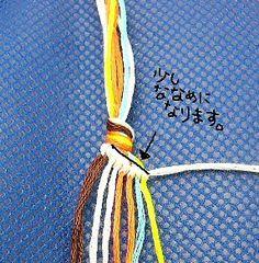 斜め編みです。 これは刺繍糸で編んだものですが、ヘンプでももちろん同じですよ。 ...