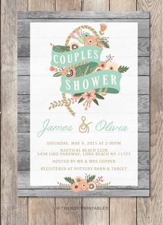 Pin and save: Pin this link and use code THANKS4PINNING to save 10% on your purchase!  https://www.etsy.com/listing/229337633/couples-shower-invitation-nautical?ref=shop_home_active_17