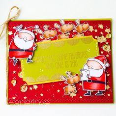 Fun card use mft jingle all the way stamp