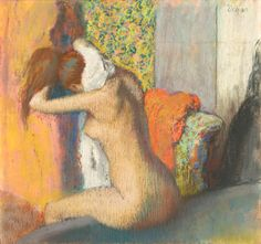 Edgar Degas, After the Bath, Woman Drying Her Neck, 1886-95, Pastel on brown cardboard, Harvard Art Museums/Fogg Museum, Gift of Mrs. J. Montgomery Sears, Photo: Allan Macintyre © President and Fellows of Harvard College, Courtesy, Museum of Fine Arts, Boston.
