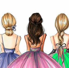 dibujo mejores amigas rubia y morena Best Friend Drawings, Tumblr Drawings, Girly Drawings, Colorful Drawings, Bff Pics, Friend Pictures, Girls Heart, Friends Sketch, Sarra Art