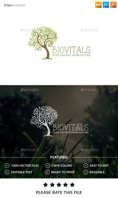 Tree - Logo Design Template Vector #logotype Download it here: http://graphicriver.net/item/tree-logo/14465596?s_rank=163?ref=nesto