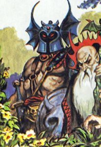 Warduke (and Kelek), as depicted in The Forest of Enchantment (1983). Art by Earl Norem.