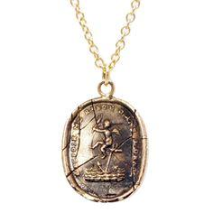 14k Mini Cherub of Hope Talisman Necklace | 14k and Precious | Pyrrha - my friend does their pr - store in LA ... awesome!