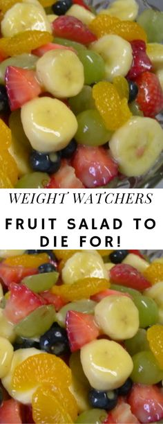 Fruit Salad to Die For! – Fruit Salad to Die For! – You are in the right place about mason jar salad recipes Here we offer you the most beautiful pictures about the side salad recipes you are looking for. When you examine the Fruit Salad to Die For! Weight Watcher Desserts, Plats Weight Watchers, Weight Watchers Diet, Healthy Fruits, Healthy Snacks, Healthy Eating, Healthy Recipes, Ww Recipes, Cooking Recipes