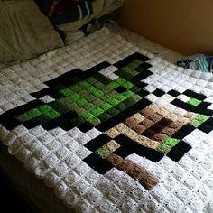 Yoda Star Wars pixel crochet blanket by brittany.l.alley.7