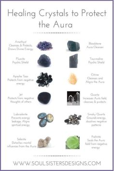 Aura protection healing crystals protection for your aura Crystal inspiration for spiritual health by Katharine Dever Crystals Minerals, Rocks And Minerals, Crystals And Gemstones, Stones And Crystals, Gem Stones, Moon Stones, Crystal Magic, Healing Crystal Jewelry, Crystal Healing Stones