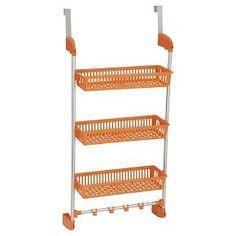 Household Essentials - 3-Basket Over-the-Door Organizer - Orange : Target