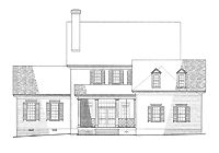 Home Plans HOMEPW26699 - 3,020 Square Feet, 4 Bedroom 4 Bathroom Neoclassical Home with 2 Garage Bays