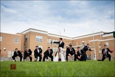 wedding football pose