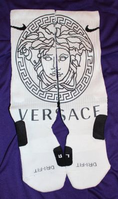 Versace Custom Nike Elite Socks by LuxuryElites on Etsy, $35.99