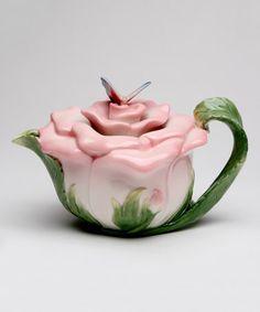 Butterfly Rose Teapot #zulily #zulilyfinds