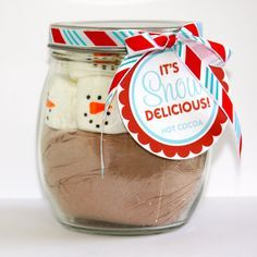 hot chocolate in a jar gift ideas - Google Search