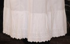 Beautiful Late 1800's Victorian Cotton Eyelet by VictorianaLady, $49.99