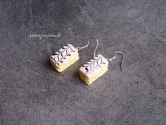 Boucles d'oreilles Millefeuilles - Bijoux Gourmands miniatures. : Boucles d'oreille par petitsgrainsdecel
