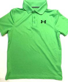 Under Armour Boys Baseball Dri Fit Short Sleeve New black Green