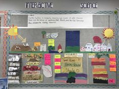 Making Science Fun Science Bulletin Boards, Interactive Bulletin Boards, Science Classroom, 6th Grade Science, Elementary Science, Interactive Word Wall, Sensory Words, Science Anchor Charts, Word Walls