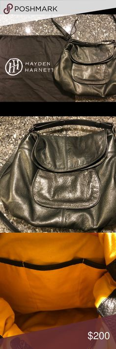 Hayden Harnett handbag Large black leather Hayden Harnett handbag. Has two straps and original dust bag. Only used a few times and is like new. No stains or scuff marks. Hayden Harnett Bags Hobos