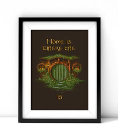 The Hobbit Print Lord of the Rings Bilbo Baggins by PrimitiveTool, $7.00 | This would make a fun cross stitch!