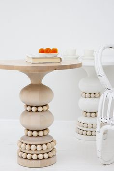 Wooden Keisarinna tables - Aarikka barefootstyling.com