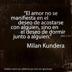 Milan Kundera// A veces es lo mas plancentero