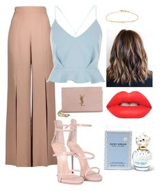 """""""A touch of glam"""" by jennettecroll on Polyvore featuring Cushnie Et Ochs, River Island, Yves Saint Laurent, Giuseppe Zanotti, Tate, Marc Jacobs and Lime Crime"""