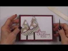 Folded Christmas Tree Card With Envelope