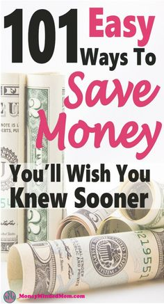 101 Easy Money Saving Tips ~ Saving money doesn't have to be so hard. There are plenty of small things you can do that will add up to big savings. Read 101 Easy Money Savings Tips to find out how. Best Money Saving Tips, Money Tips, Saving Money, Money Hacks, Frugal Living Tips, Frugal Tips, Save Money On Groceries, Ways To Save Money, Savings Planner