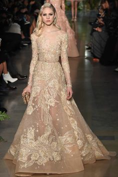 WedLuxe – Couture Spring-Summer 2015: Elie Saab | Via Vogue.co.uk Follow @WedLuxe for more wedding inspiration!