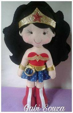 Eu Amo Artesanato: Boneca Mulher Maravilha com molde