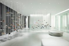 """White Forest"" installation at Hills Avenue flagship store by Tokujin Yoshioka, Tokyo – Japan"
