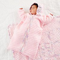 Baby Girl Crochet Bunting - free crochet pattern