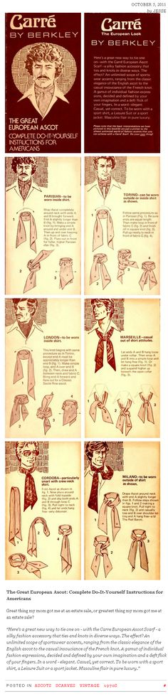 Tie an Ascot (Instructions for Americans ;) )