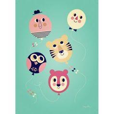 Poster Balloon Faces von Ingela P.Arrhenius für OMM Design nordliebe.com