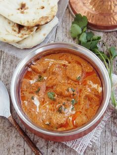 Just made this delicious butter chicken for dinner. It is so rich and delicious! Tastes very similar to the kind at Indian restaurants. :)