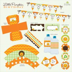 pumpkin themed birthday party   Our Lil' Little Pumpkin Patch Custom Birthday Pack - DIY Printable as ...