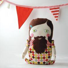plush bearded lady Circus Peanuts, Beard Art, Bearded Lady, Fiber Art, Childhood, Plush, Pure Products, Dolls, Halloween